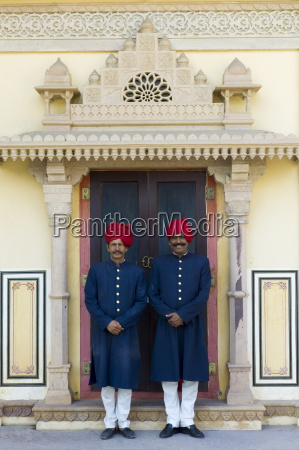 palace guards in achkan suit at