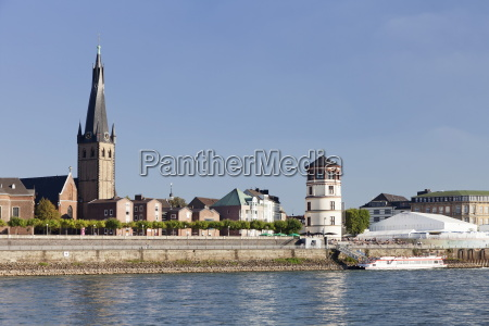 old town with lambertus church and