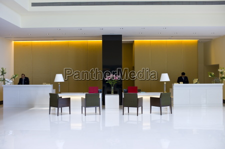lobby and reception area in the