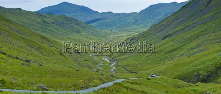 langdale pass surrounded by langdale pikes