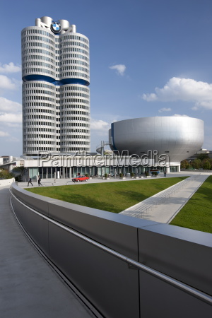 modern architecture at the bmw headquarters