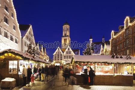 christmas fair market square martinskirche church
