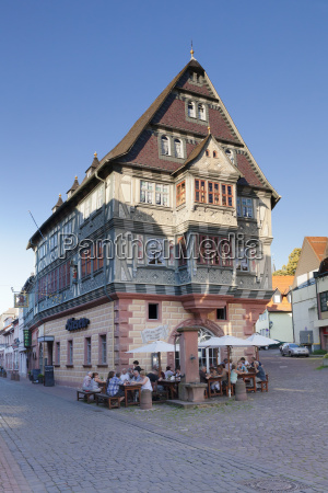 tavern in a half timbered house