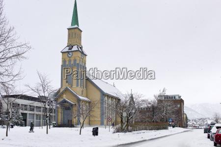 cathedral in tromsoya tromso arctic