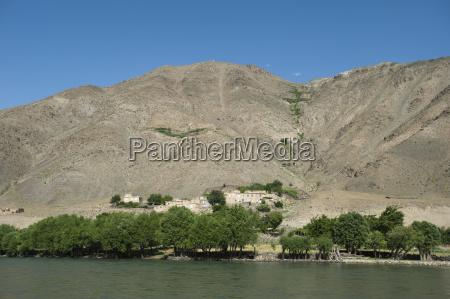 the panjshir river afghanistan asia
