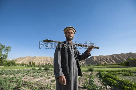 a farmer in the bamiyan valley