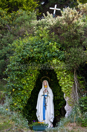 grotto with statue of the virgin