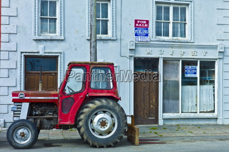 tractor parked at murphy shop