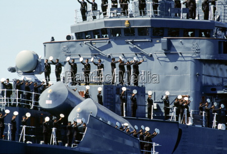 australian warship and crew take part
