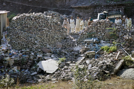 buildings demolished in earthquake area of