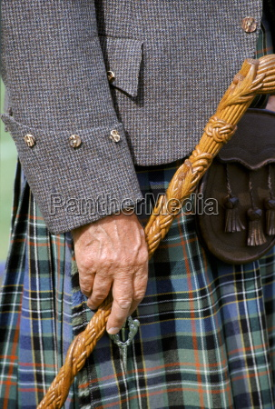 traditional scottish kilt and tweed jacket