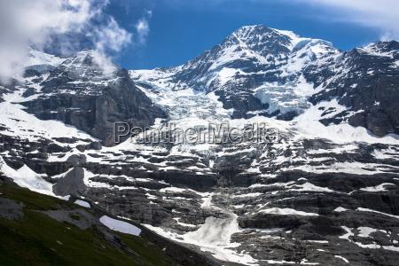eiger glacier eigergletscher between monch monk