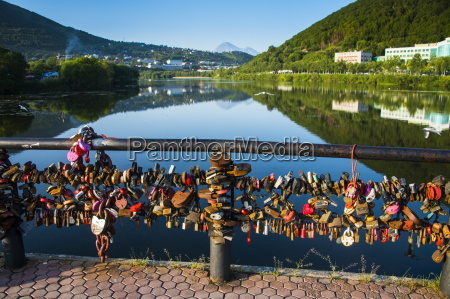 lots of padlocks and chains on
