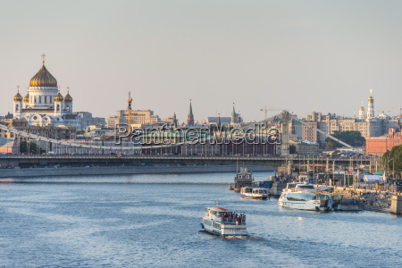 view over moscow and the moskva
