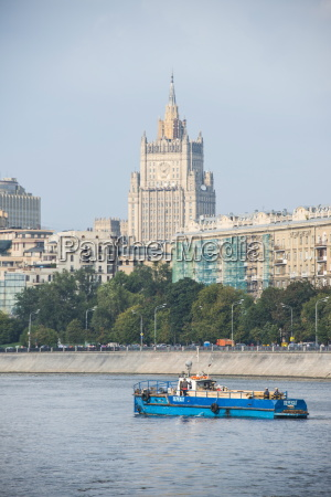 moscow seen from a river cruise
