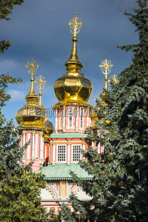 the golden domes of the trinity