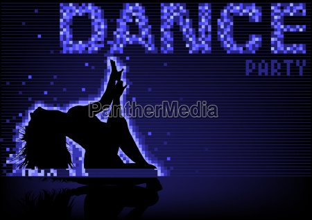 blue dance party background
