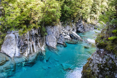 the stunning blue pools haast pass