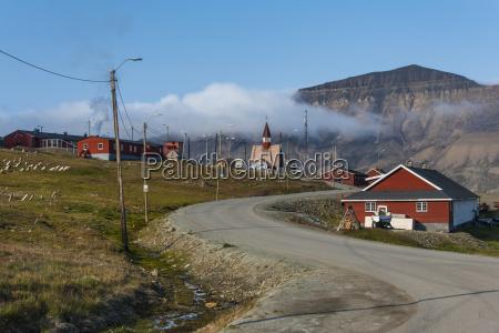 longyearbyen spitsbergen svalbard arctic norway scandinavia