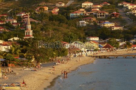 beach and church grande anse les