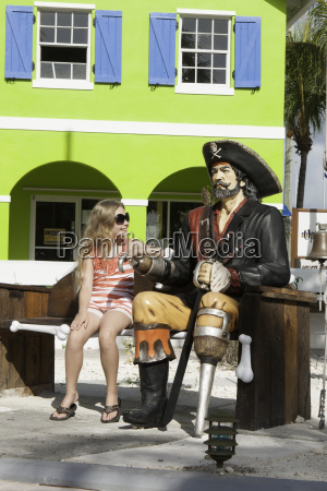 pirate themed square on grace bay