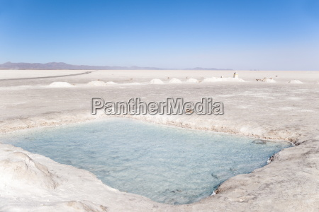 water beneath the thin crust of