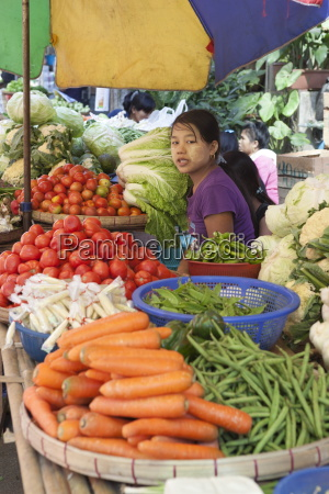 fruit and vegetable market yangon rangoon
