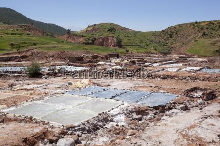 salt evaporation ponds ourika valley atlas