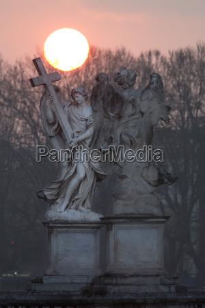 berninis breezy maniac angels statues on