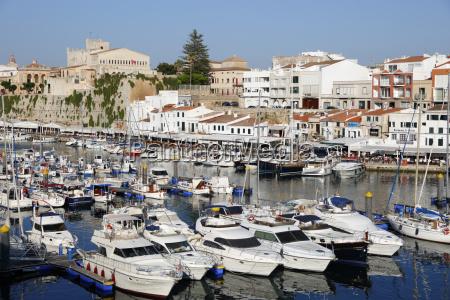 view over harbour and ayuntamiento de