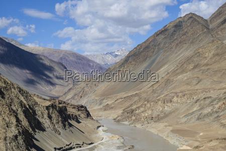 the mountainous scenery of the zanskar