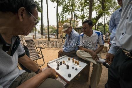 cambodian chess near wat phnom phnom
