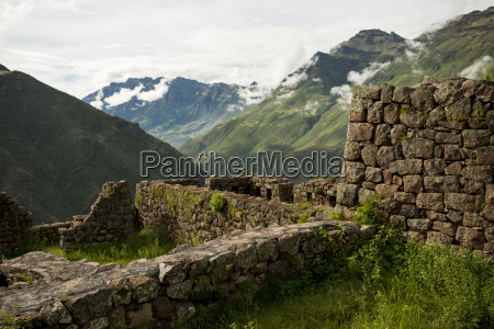 view from inca citadel of pisac