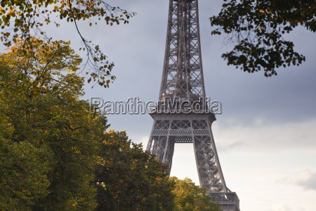 the eiffel tower from champ de