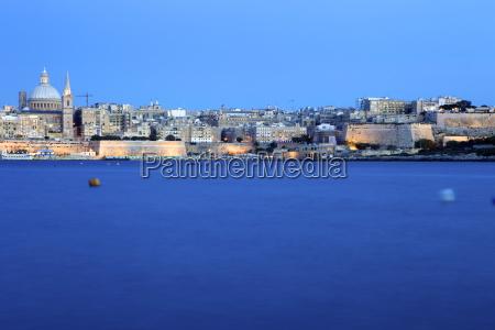 overlooking valletta malta mediterranean europe