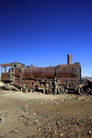 rusting old steam locomotive at the