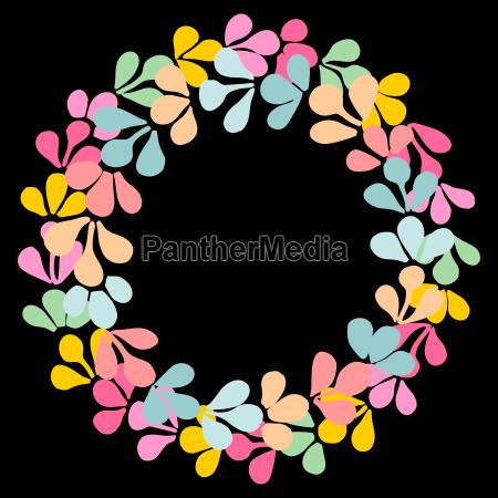 pastel laurel wreath decorative vector frame