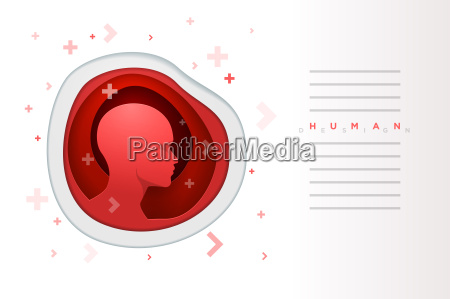 red human head design template