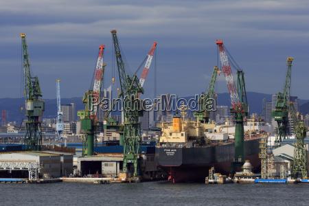 kawasaki kobe shipyard honshu island japan