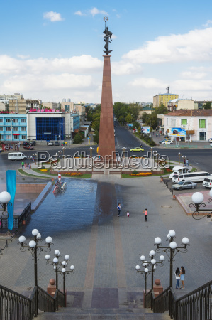 entrance of the independence park shymkent