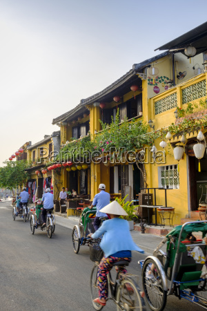 general view of shop houses and