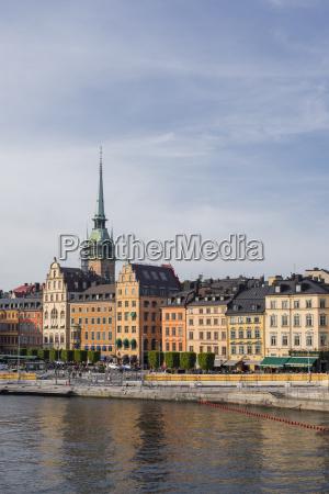 historic architecture in gamla stan stockholm