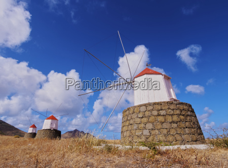 traditional windmills of porto santo island