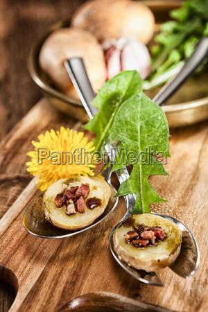 roehrl salad decoratively arranged on salad
