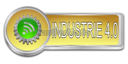 golden green industry 40 button