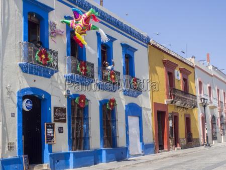 colorful street oaxaca mexico north america