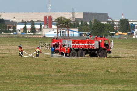 demonstration of fire equipment rostov on