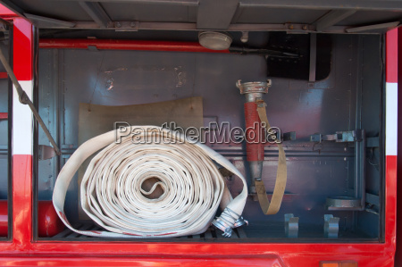 demonstration of fire equipment near the