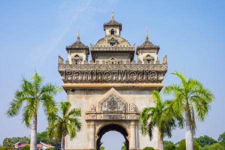 patuxi victory gate monument vientiane laos