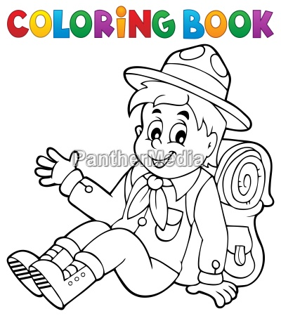 coloring book scout boy theme 2
